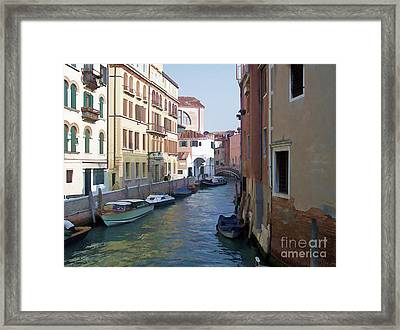Framed Print featuring the photograph Parked In Venice by Roberta Byram