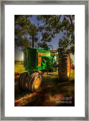 Parked John Deere Framed Print by Michael Eingle