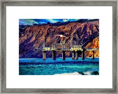 Parked On Scripps Pier - La Jolla Framed Print by Russ Harris