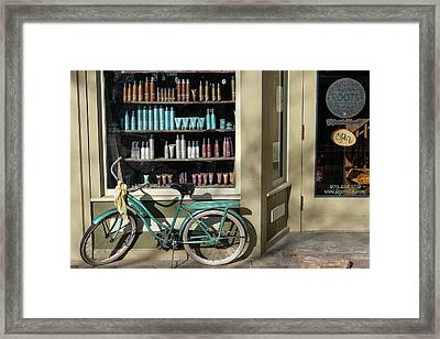 Framed Print featuring the photograph Parked Outside by Monte Stevens