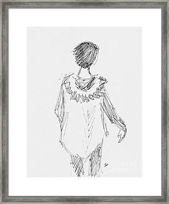 Parker Girl Framed Print