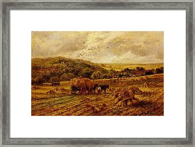 Parker Henry H Harvest Time Lambourne Berks Framed Print
