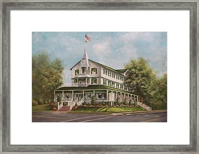 Parker House Sea Girt , Nj Framed Print