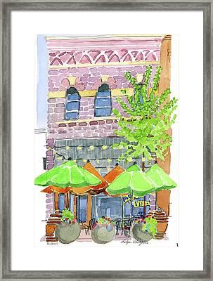 Parker's Bistro Framed Print