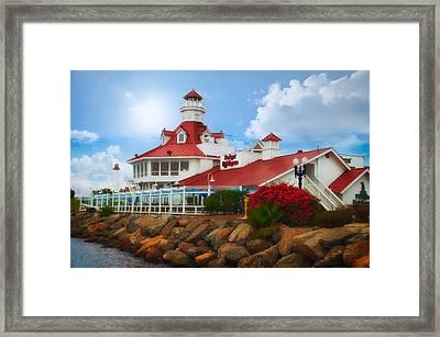 Parkers Lighthouse Restaurant Framed Print