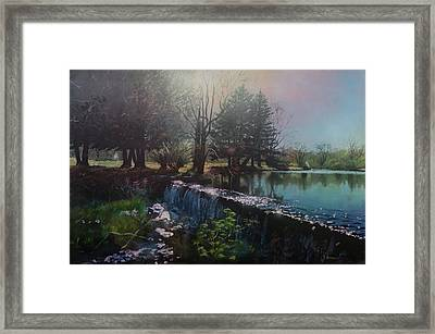 Parker's Pond In North Easton Ma Framed Print by Bill McEntee