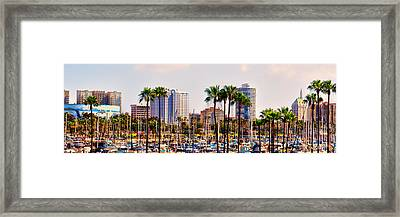 Parking And Palms In Long Beach Framed Print by Bob Winberry