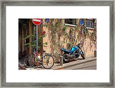 Parking Corner Framed Print by Zalman Latzkovich
