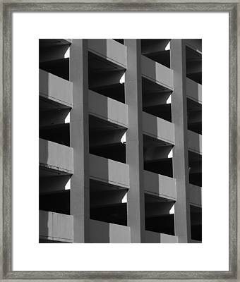 Parking Garage Milwaukee Abstract 2334 Framed Print
