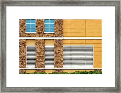 Framed Print featuring the photograph Parking Garage Vent Wall Detail by Frank J Benz