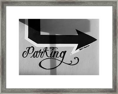 Parking Gillette Alley Tracy Ca Framed Print by Troy Montemayor