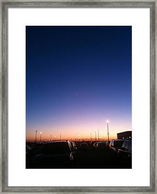 Parking Lot Sunset Framed Print by Jonathan Kotinek