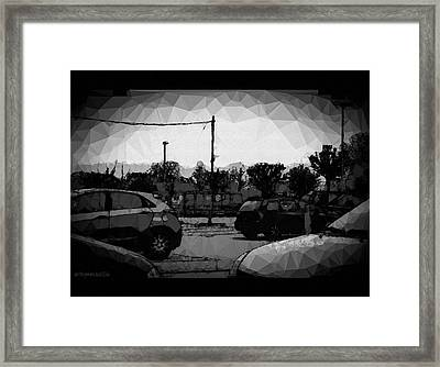 Framed Print featuring the photograph Parking by Mimulux patricia no No