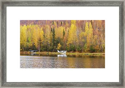 Parking On An Alaskan Lake Framed Print by Wes and Dotty Weber