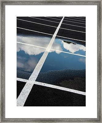 Parking Spaces For Clouds Framed Print