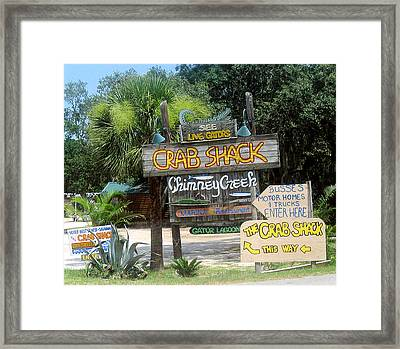 Parking This Way Framed Print by Juliana  Blessington