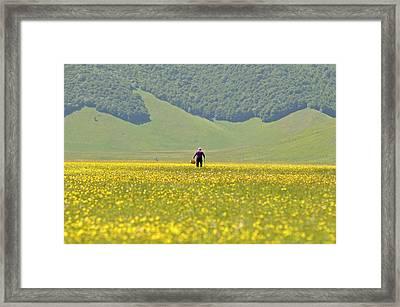 Parko Nazionale Dei Monti Sibillini, Italy 1 Framed Print