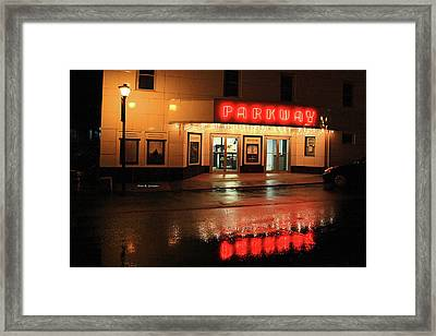 Parkway Night Framed Print