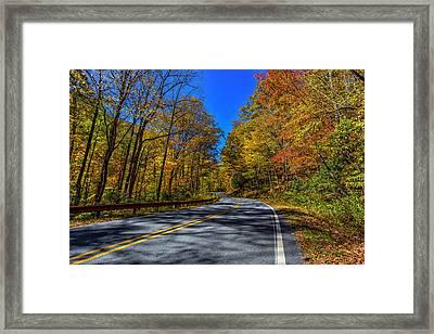 Parkway Road Nc Framed Print