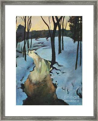Parlee Farm Sunset Creek Framed Print by Claire Gagnon