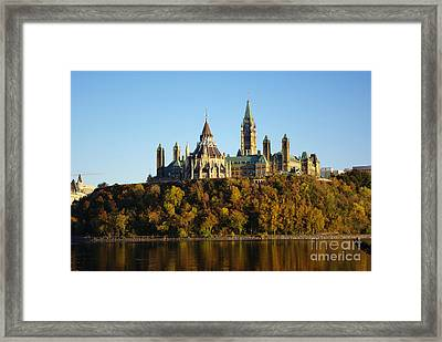 Parliament Hill In Ottawa, Canada Framed Print by Scimat