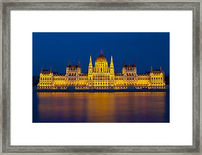 Parliament On The Danube Framed Print
