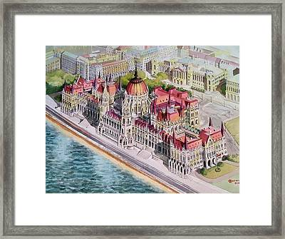 Parliment Of Hungary Framed Print by Charles Hetenyi
