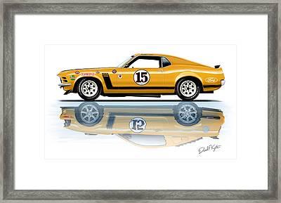 Parnelli Jones Trans Am Mustang Framed Print by David Kyte