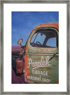 Parolek Wrecker Framed Print by Omar Garza
