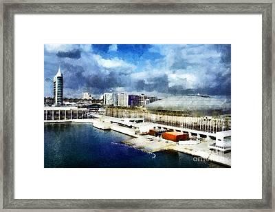 Framed Print featuring the photograph Parque Das Nacoes by Dariusz Gudowicz