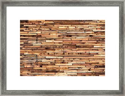 Parquet Wood Pattern Framed Print