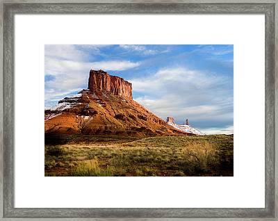 Parriott Mesa Framed Print by TL Mair