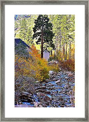 Parrish On The Carson Framed Print by Larry Darnell