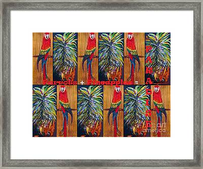 Parrots And Pineapples Framed Print