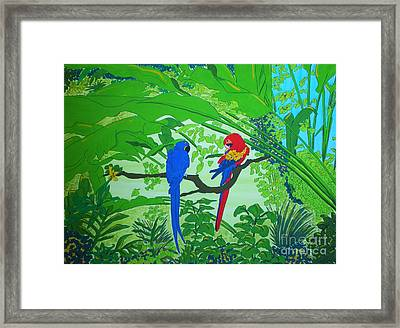 Parrots Framed Print by Michaela Bautz