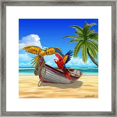 Parrots Of The Caribbean Framed Print