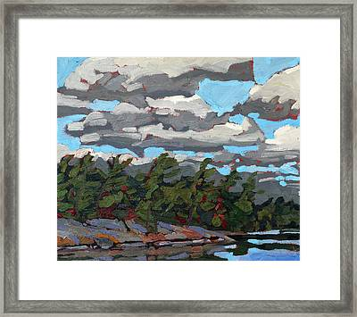 Parry Sound Flagged Pines Framed Print by Phil Chadwick
