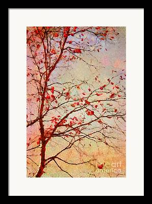 Autumn Trees Digital Art Framed Prints