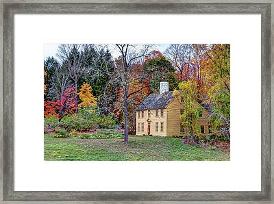 Parson Barnard House In Autumn Framed Print