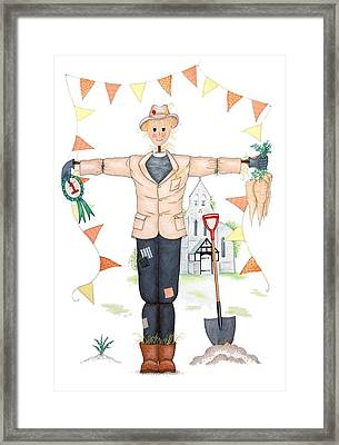 Parson Scarecrow Framed Print by Sandra Moore