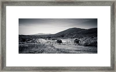 Part Of Ancient Messenei. The Stadium / Greece Framed Print by Stavros Argyropoulos