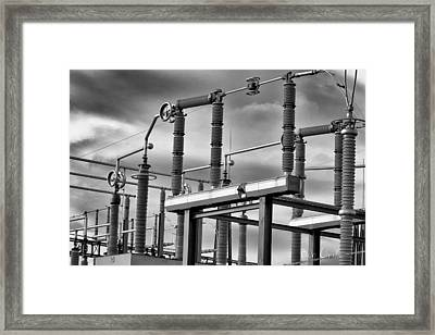 Part Of The Grid Framed Print