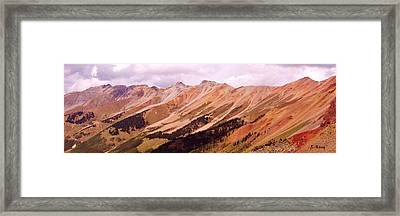 Framed Print featuring the photograph Part Of The San Juan Mountains Colorado by Roena King