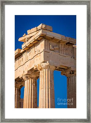 Parthenon Columns Framed Print by Inge Johnsson