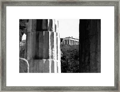 Parthenon From The Temple Of Hephaistos Athens Framed Print by Susan Chandler
