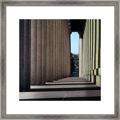 Parthenon Shadow Tunnel Framed Print