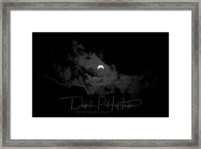 Framed Print featuring the photograph Partial Eclipse, Signed. by David P Hufstader