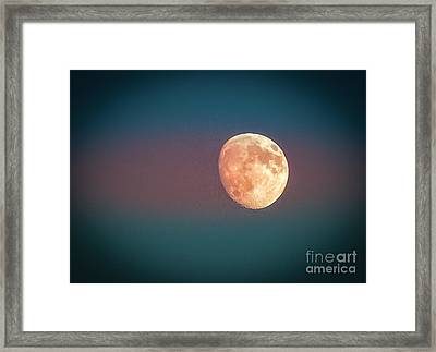 Partial Moon Framed Print by Claudia M Photography
