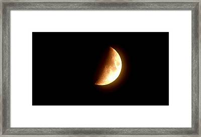 Partial Moon Framed Print