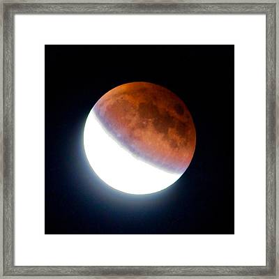 Framed Print featuring the photograph Partial Super Moon Lunar Eclipse by Todd Kreuter